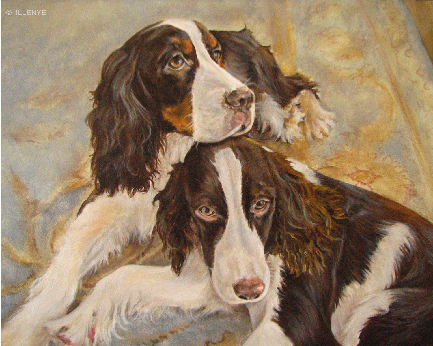 Jeanne Illenye Looking After Them English Springer