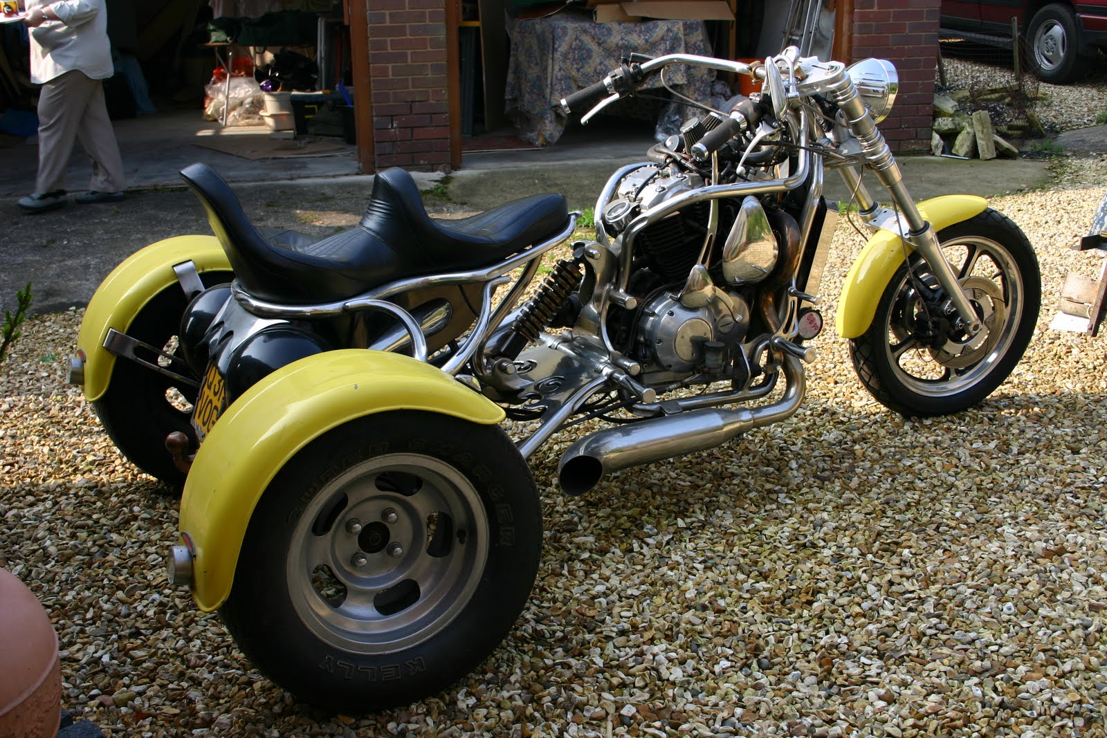 trike trikes custom motorcycle motorcycles win motorbikes yellow uploaded user