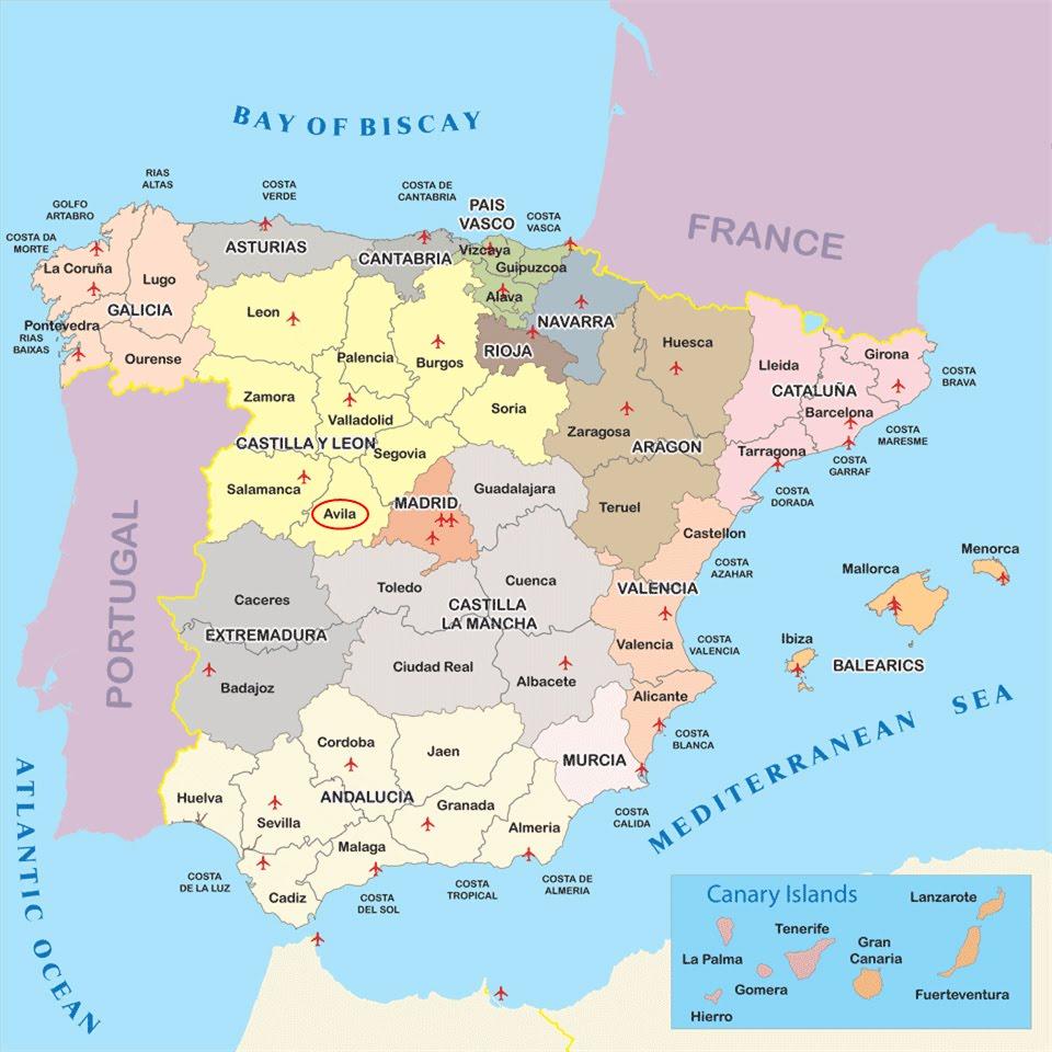 Map Of Spain Leon.International Study Of Re Regions Province Of Avila Castilla Y