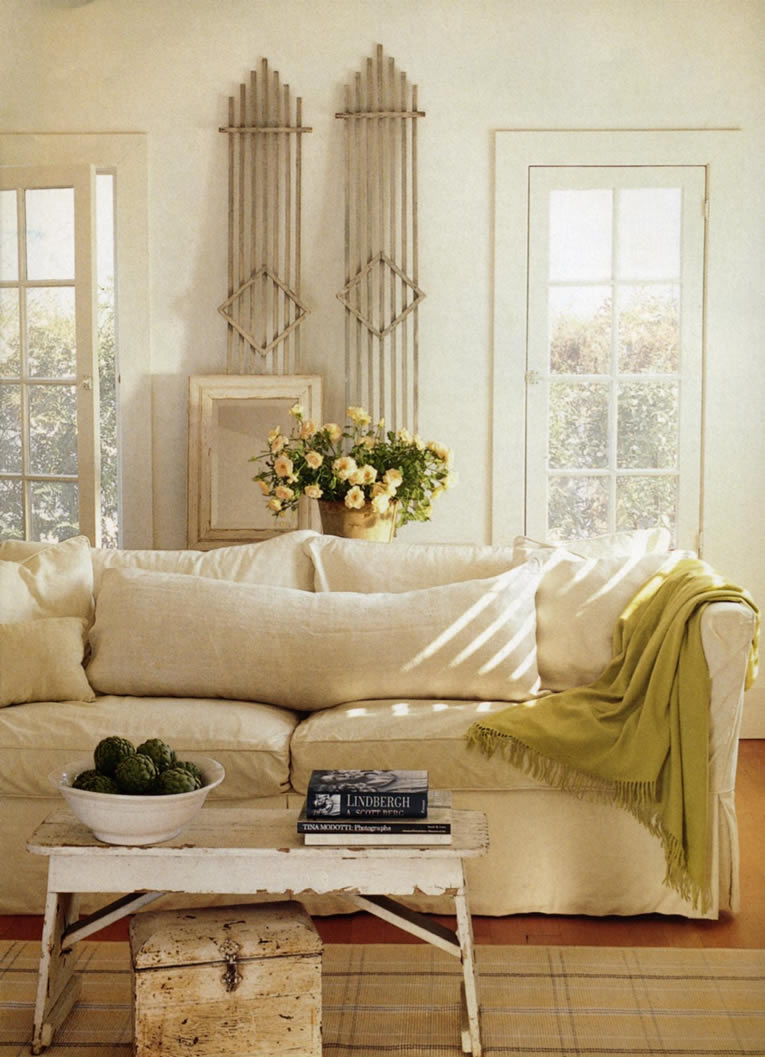 White Country Living Room Decorating Ideas: Farmhouse Life: Decorating White....HHmmmm