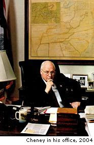 Cheney finally gets the power he always dreamed of.
