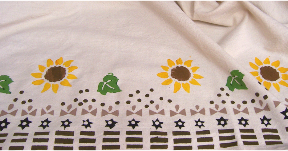 Art Threads Monday Project Stamping On Fabric