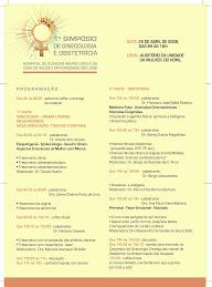 1º Simposio de Ginecologia e Obstetrícia