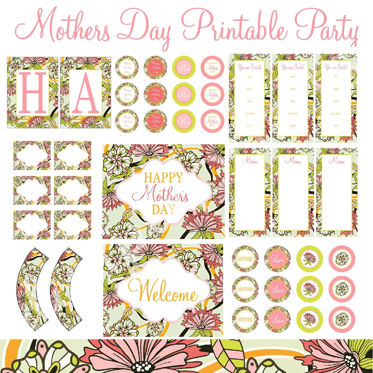 9f0266eb0d3b6 CLOSED GIVEAWAY: Mother's Day Printable Party - Dimple Prints