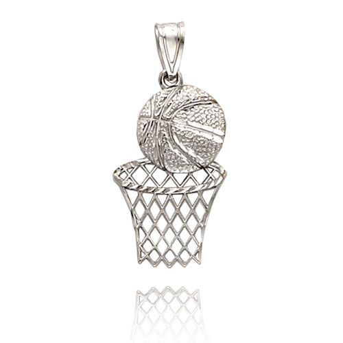 Gold Basketball Pendant