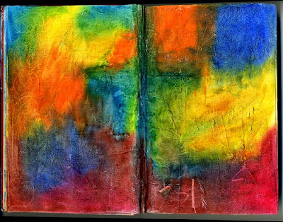 Ro Bruhn Art Oil Pastel Journal Pages