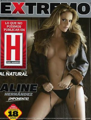 Aline Hernández desnuda, para la revista H Extremo
