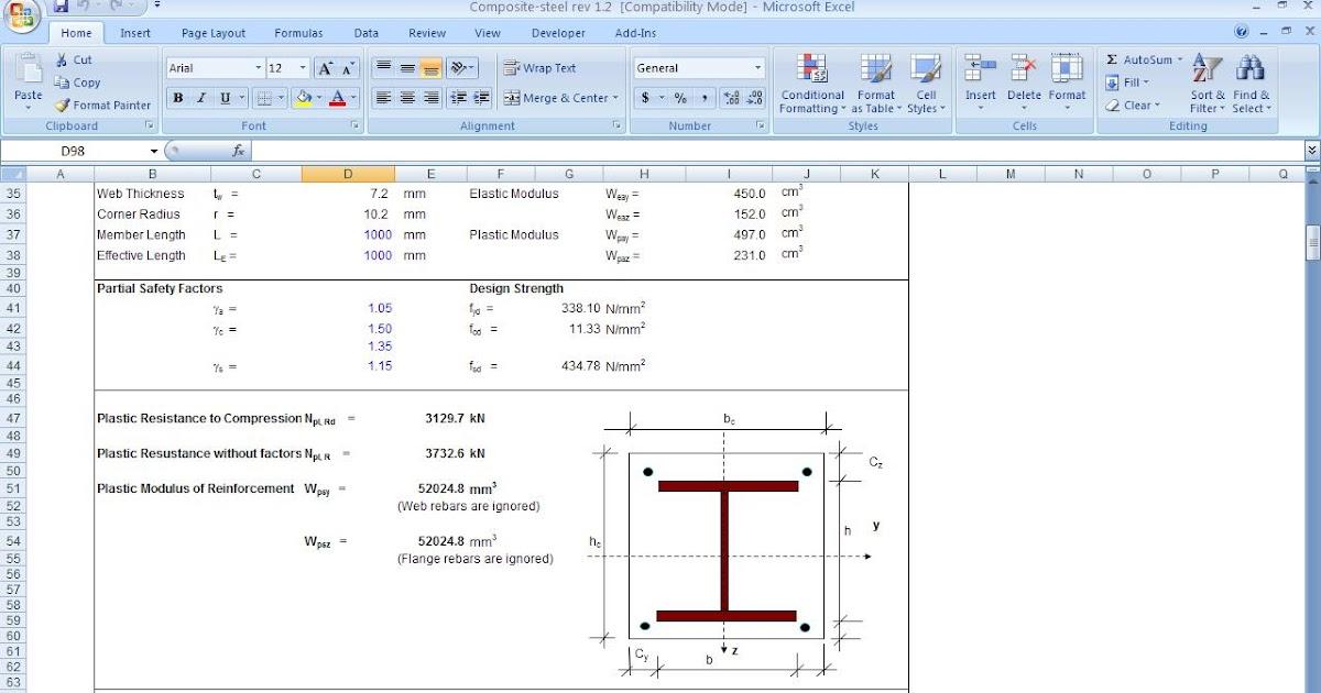 Structural Analysis & Design: Composite Steel Column Design