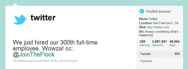 SEO Company Chennai: Twitter Celebrates Hiring Of 300th ...