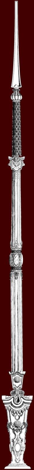 Proyecto del varal para el Palio de la Virgen de la Amargura