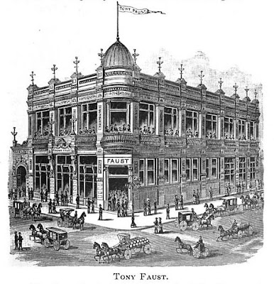 Bygone Saint Louis Tony Faust Restaurant 1891