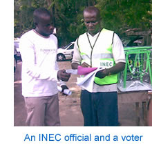 An INEC official