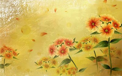 Free Hd Wallpaper Fall Beautifully Illustrated Vector Flower Backgrounds