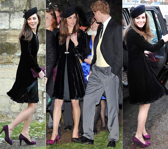 0c149f576a5c Kate Middleton and some of the young royals were seen out and about this  weekend at the wedding of Harry Aubrey-Fletcher and Louise Stourton.