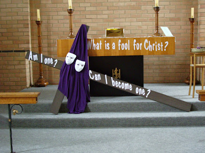 The altar at St Thomas' at Upper Ferntree Gully, Australia on Ash Wednesday