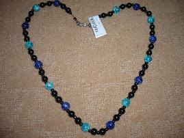 margele negru-albastru- 22 ron