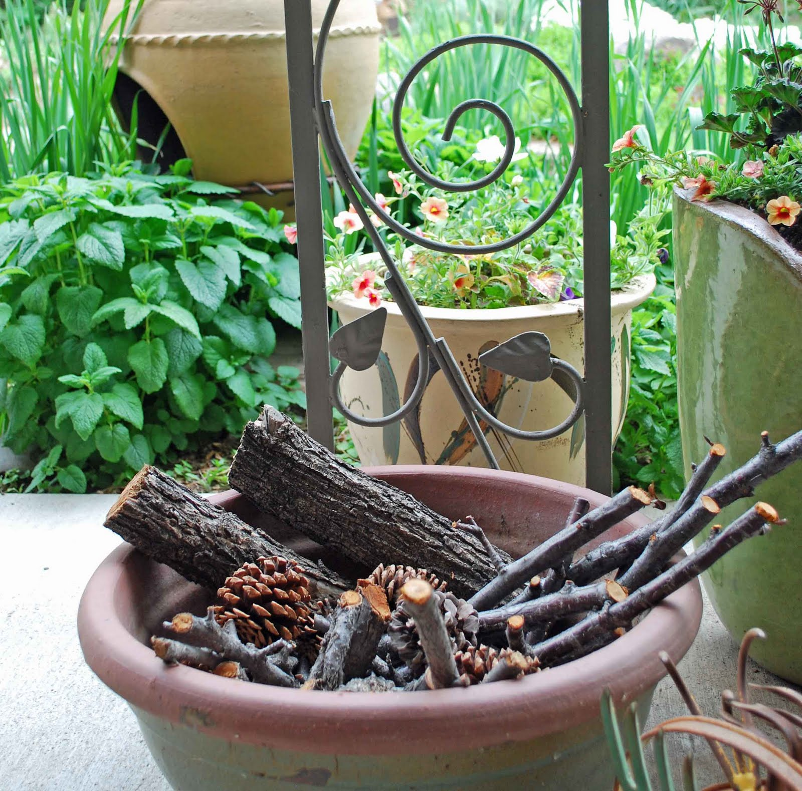 Outdoor Firewood Storage Containers The Art Garden Garden Designers Roundtable Containers