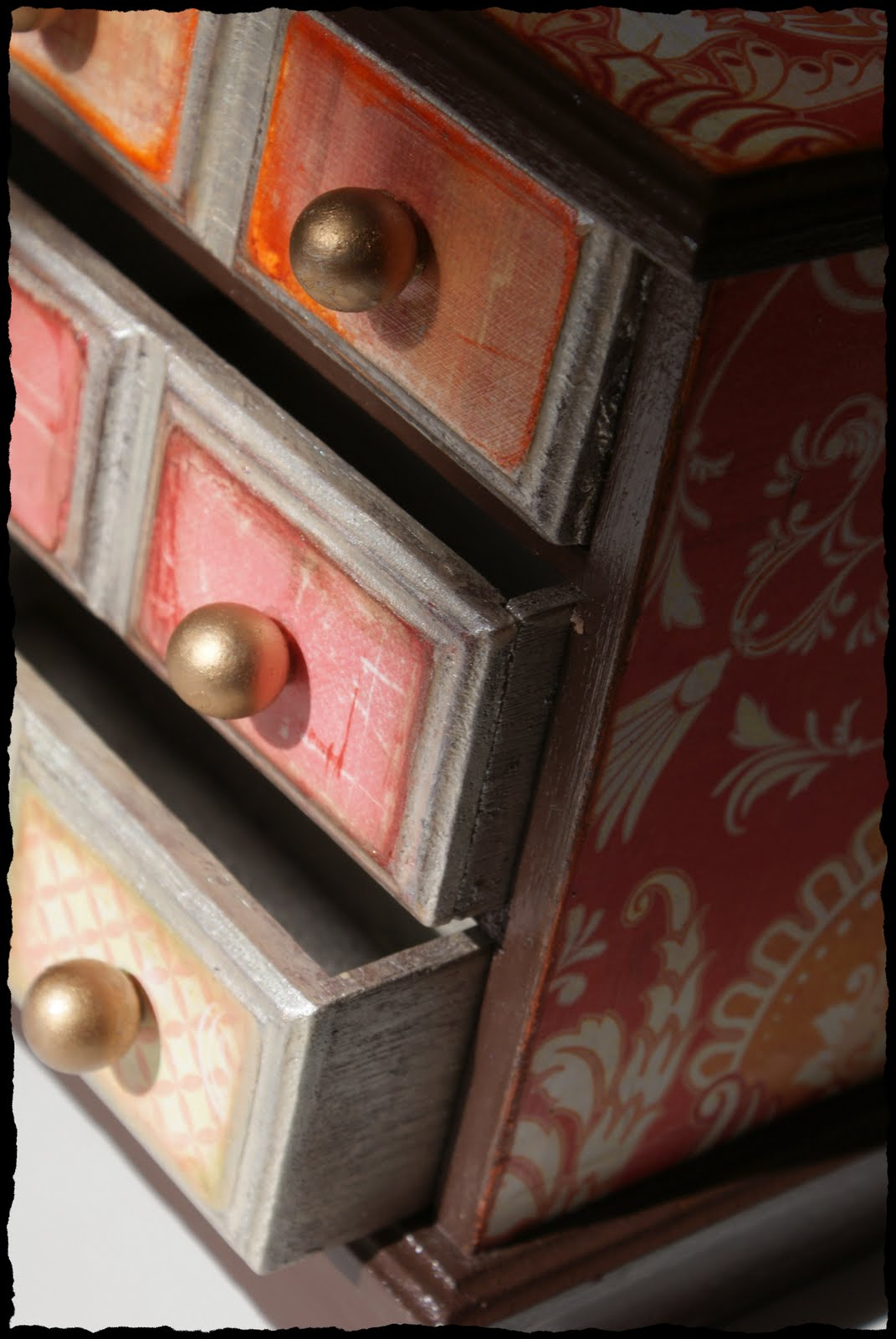 Matte Gel Paper Decorated Thrift Store Jewelry Box