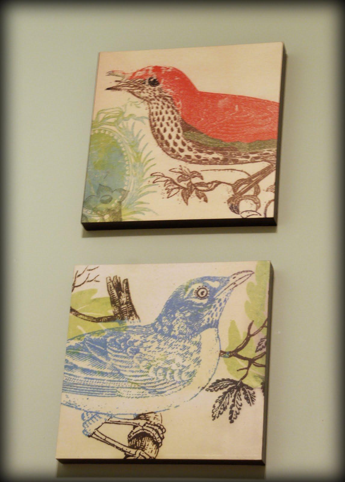 & Fabric Wall Art DIY; My Retro Kitchen