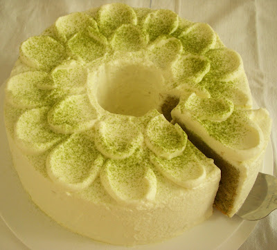 Japanese Green Tea Chiffon Cake Recipe