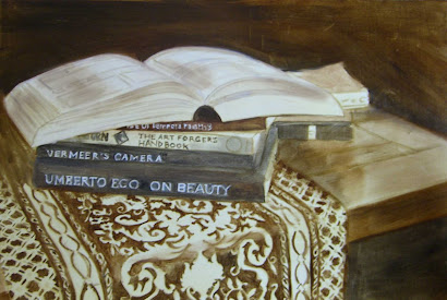 Another Still Life with Books (underpainting)