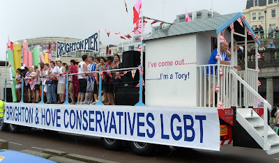 I've come out. I'm a Tory.