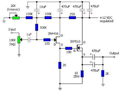 Single Ended Mosfet Irf510 Electronic Circuits Kits And