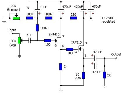 Single Ended Mosfet IRF510 : Electronic circuits KITS AND