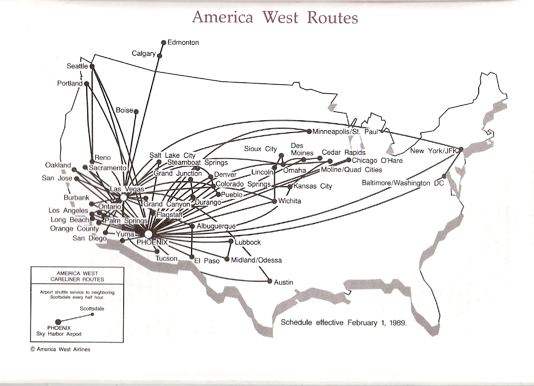 Airline Timetables America West Airlines