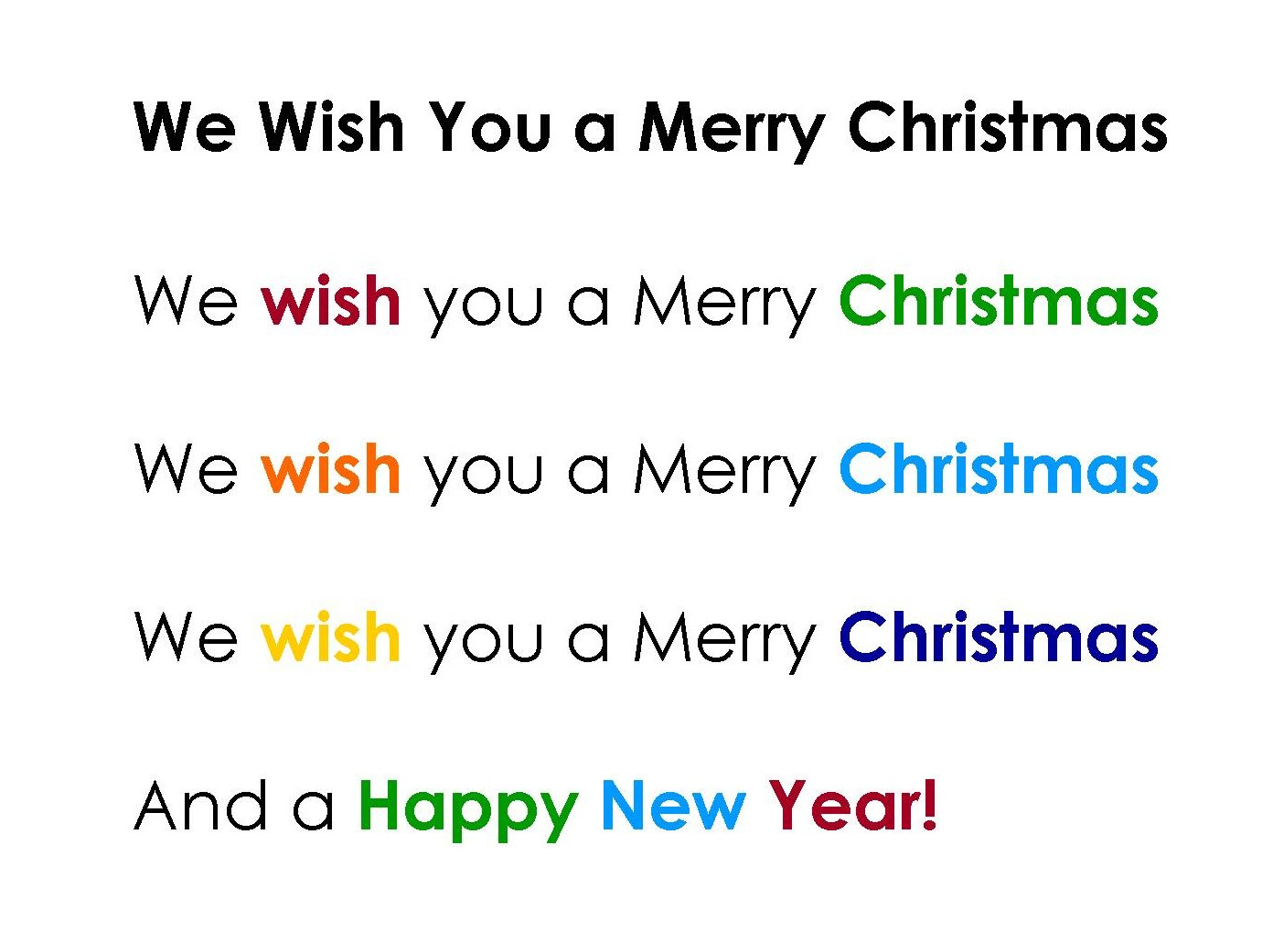 Music For Special Kids We Wish You A Merry Christmas On