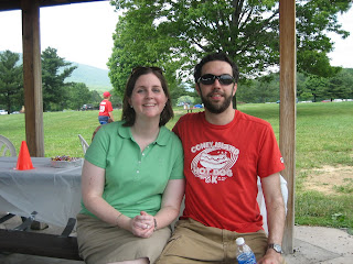 Rob and Kathryn at the reunion picnic