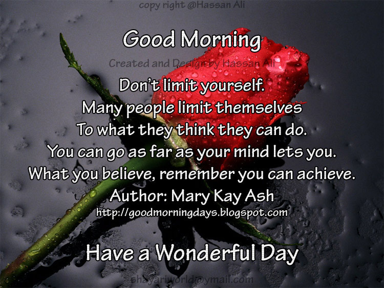 Self Improving Inspiring Quotes Good Morning Quotes For 11 05 2010