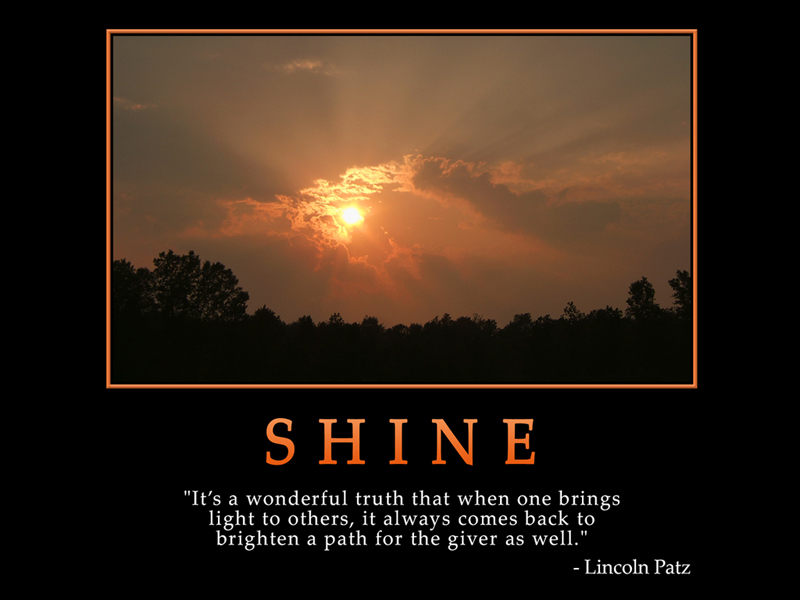 Quotes About Shining Light: Self Improving Inspiring Quotes: Beautiful Inspiring