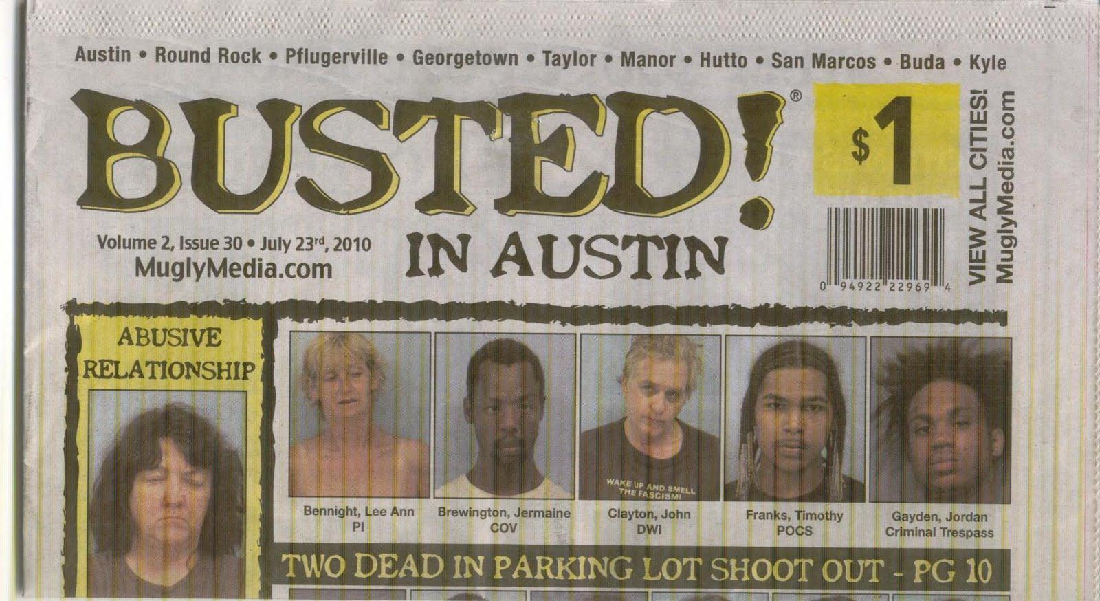 Dorn's Blog: Busted - Mugshots Galore!