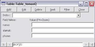 membuat database acces vb