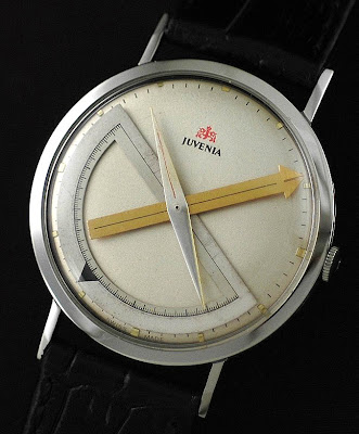Math Watches Part 2.1249 - Vintage 1960s Juvenia Protractor Watch