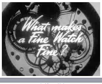 Jam Handy Watchmaking Films of 1947-1949 for Hamilton Watch Co.