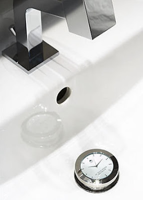 Murano Watch Waste - Luxury Sink Drain Plug Clock