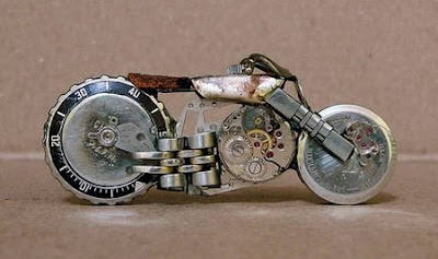 Miniature Brazilian Horological Motorcycle Art