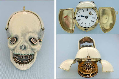 Haunted Horology Week!  Mary Queen of Scots Skull Watch