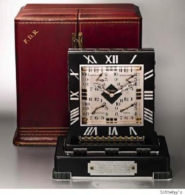Franklin Delano Roosevelt's Cartier World Time Clock