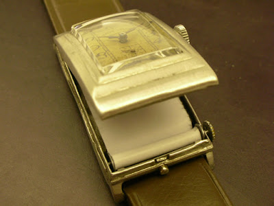 Secret Compartment Scroll Watch - 1920s Favre Leuba