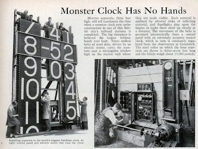 15,000 Pound Belt Driven Digital Clock from 1931