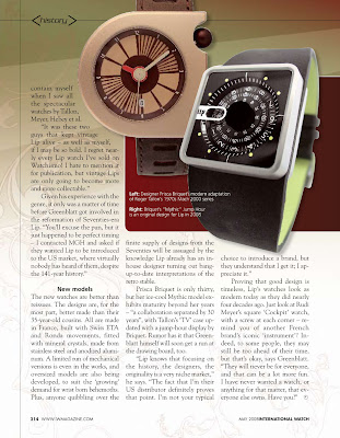 LIP Feature in International Watch Magazine