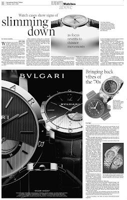 1970s Influence on Modern Horology (Featuring Watchismo!) Internatonal Herald Tribune