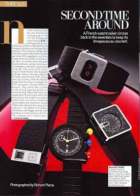 LIP Watches in Mens Vogue and Surface Magazine