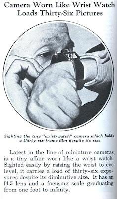 1939 Popular Mechanics Wrist Camera