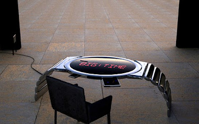 Rowland Art Engineering Giant LED Clock Table