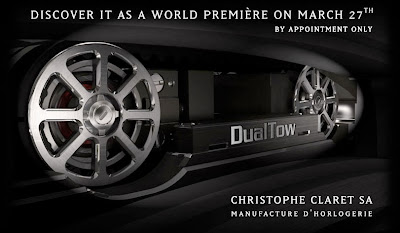 Christophe Claret Introduces his DualTow Display Belt Single Pusher Planetary Chronograph with Striking Mechanism
