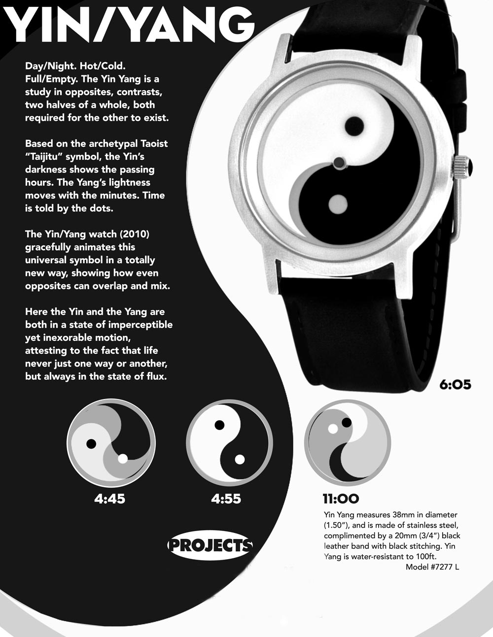 Watchismo times new projects watches rush hour turbino for Architecture yin yang